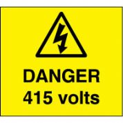 Warn096 - Danger 415 Volts